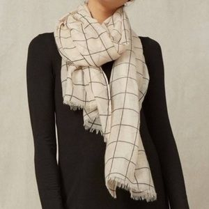 🌟 Rachel Pally Scarf/Wrap Windowpane Plaid